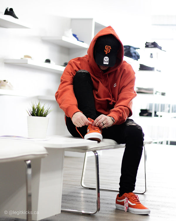 Champion hoodie burnt orange