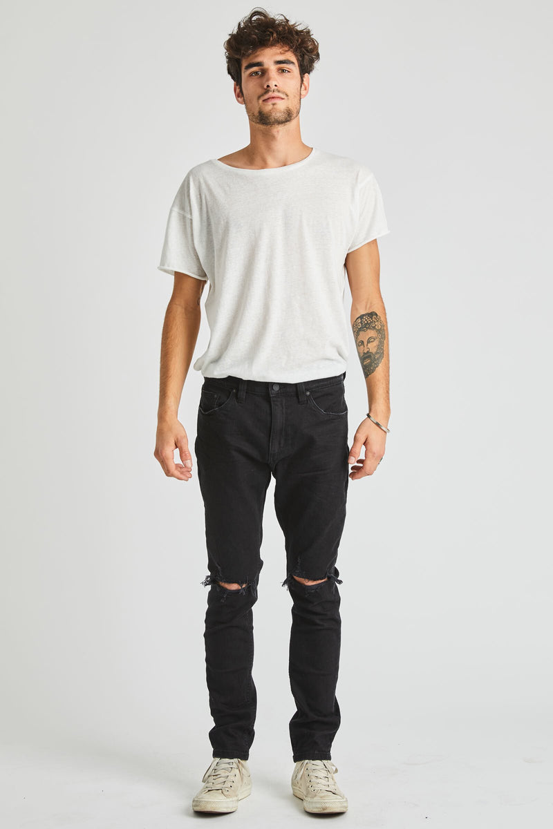 Rolla's Jeans Stinger Black Ripped Denim