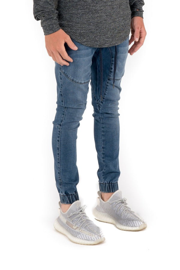 Kuwallatee  Men Denim Jogger Pants Dark Blue - Legitkicks.ca