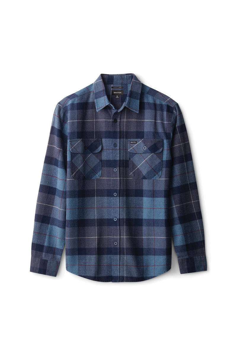 Brixton Bowery Ls Flannel Navy/Blue