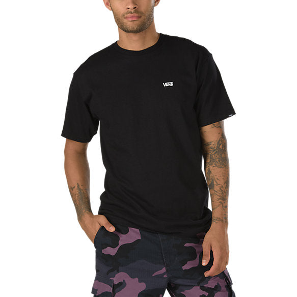 Vans Men Left Chest Logo Tee Black/waterfall