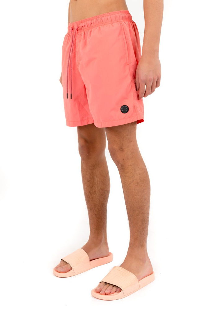 Men Summer Swim Shorts Coral