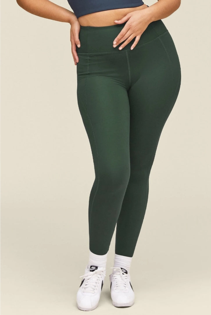 Girlfriend Collective High Rise Compressive Leggings Moss - Legitkicks.ca