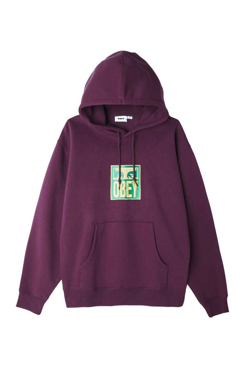 Obey Stack Hoodie Blackberry Purple - Legitkicks.ca