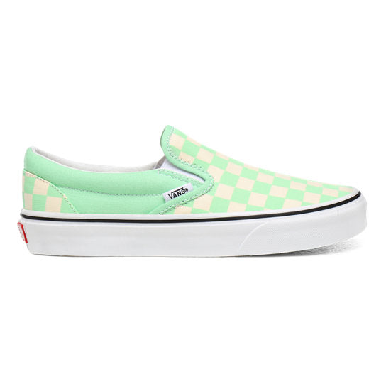 Vans Lime Green Checkerboard Slip On