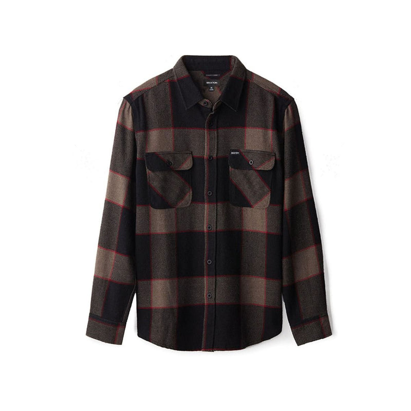 Brixton Bowery Ls Flannel Grey/Charcoal