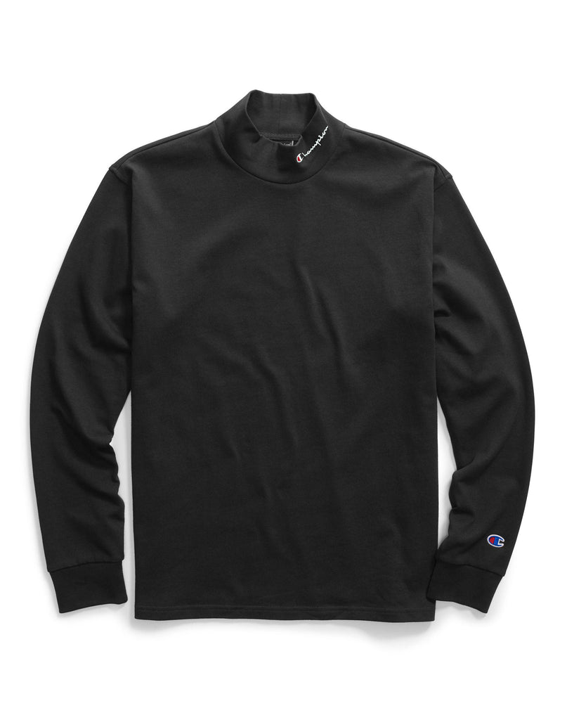 Champion Mock Neck Tee Black - Legitkicks.ca