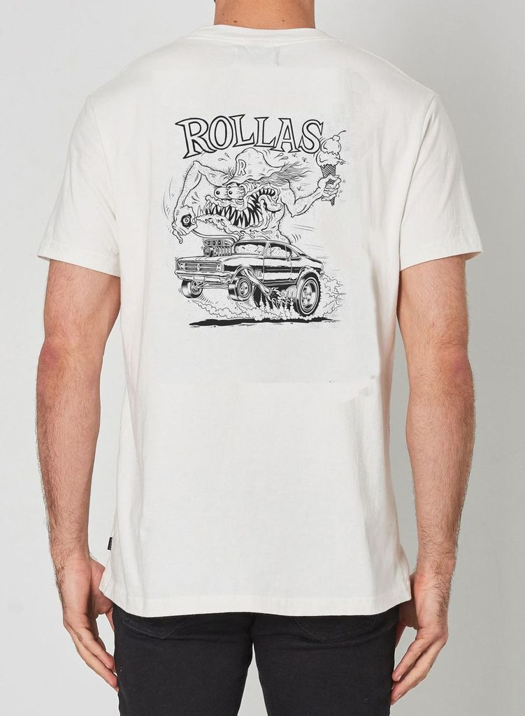 Rolla's Jeans Old Mate Hot Rod Logo Tee - Legitkicks.ca