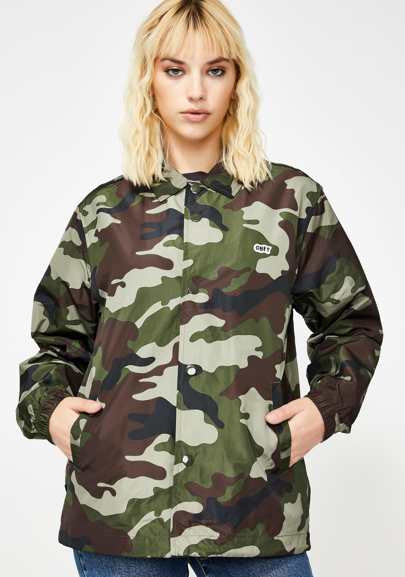 Obey Core Coaches Jacket Field Camo - Legitkicks.ca