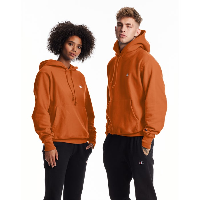 Champion Reverse weave orange hoodie - Legitkicks.ca