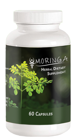 1 Bottle - 60 Capsules of 100% Pure Moringa Oleifera