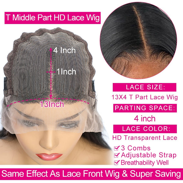 Transparent Straight Lace Front Wig
