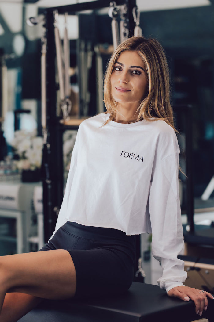 Forma Women's Cropped Long Sleeve Tee