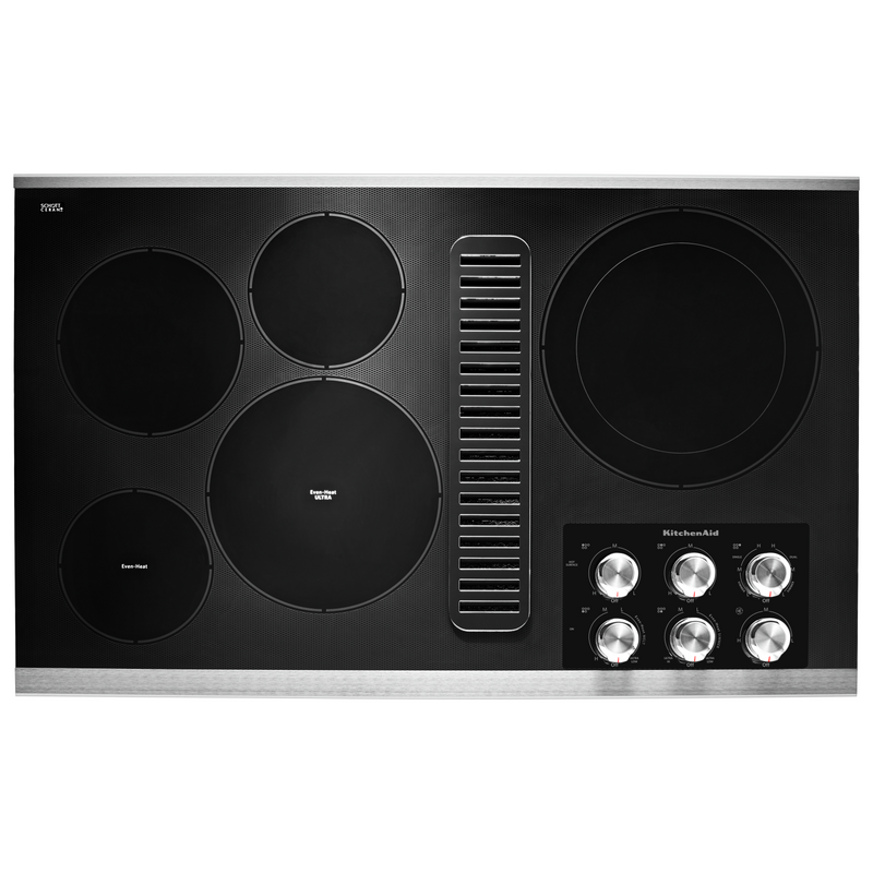 "36"" Electric Downdraft Cooktop with 5 Elements KCED606GBL"