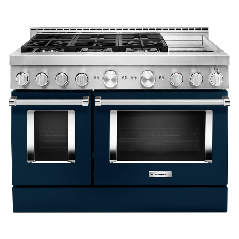 KitchenAid® 48'' Smart Commercial-Style Gas Range with Griddle KFGC558JAV