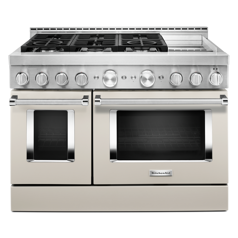 KitchenAid® 48'' Smart Commercial-Style Gas Range with Griddle KFGC558JPA
