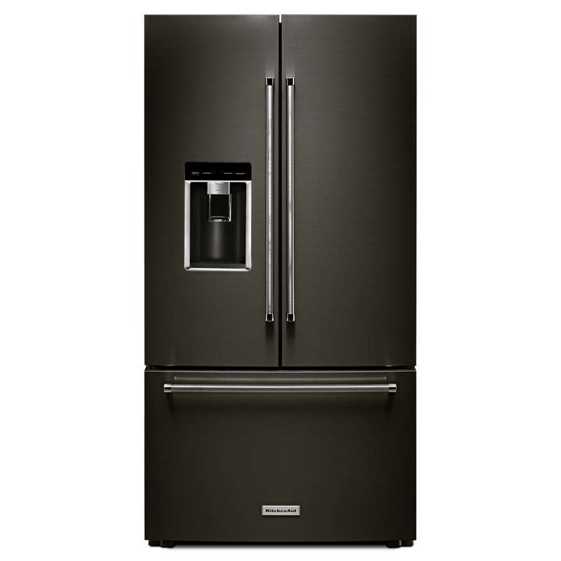 "23.8 cu. ft. 36"" Counter-Depth French Door Platinum Interior Refrigerator with PrintShield™ Finish KRFC704FPS"