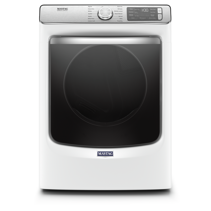 Smart Front Load Electric Dryer with Extra Power and Advanced Moisture Sensing with industry-exclusive extra moisture sensor - 7.3 cu. ft. YMED8630HW