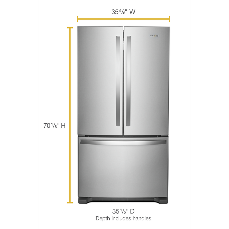 36-inch Wide French Door Refrigerator with Water Dispenser - 25 cu. ft. WRF535SWHB