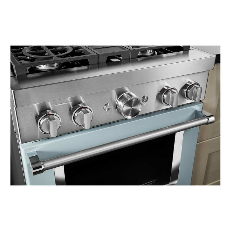 KitchenAid® 30'' Smart Commercial-Style Dual Fuel Range with 4 Burners KFDC500JMB