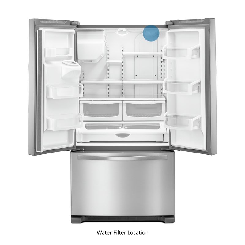 36-inch Wide French Door Refrigerator in Fingerprint-Resistant Stainless Steel - 25 cu. ft. WRF555SDFZ
