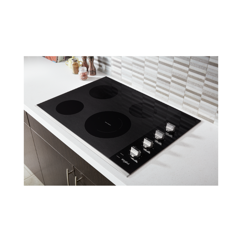 30-inch Electric Ceramic Glass Cooktop with Dual Radiant Element WCE55US0HS