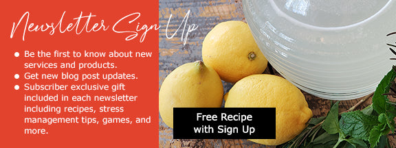 Newsletter sign up with lemonade recipe