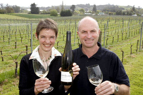 Daniel and Ursula Schwarzenbach at their Nelson vineyard