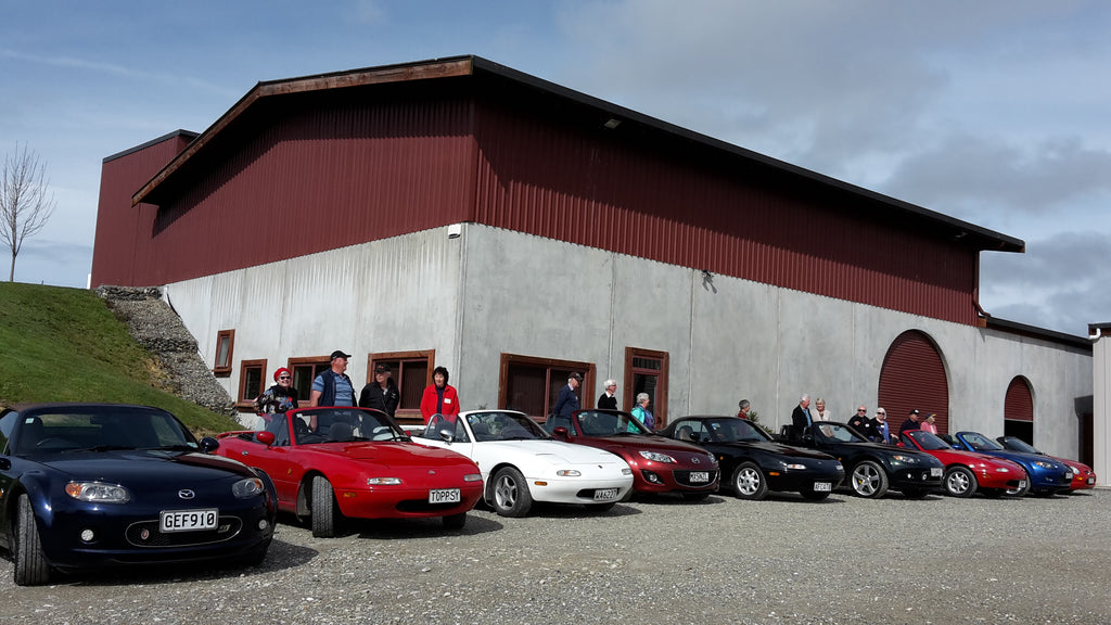 Nelson MX5 Car Club visits Blackenbrook Vineyard