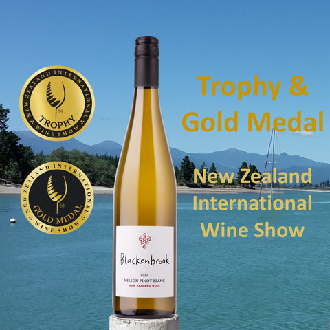 Blackenbrook Pinot Blanc 2020 awarded Trophy from New Zealand International Wine Show