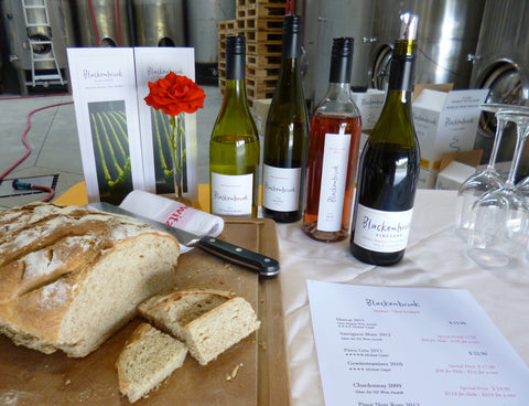 Award-winning wines and home-made bread at the Blackenbrook winery