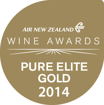 Pure Elite Gold Medal from Air New Zealand Wine Awards 2014