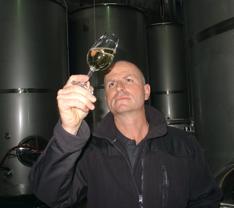 Daniel Schwarzenbach in the our gravity-fed Winery