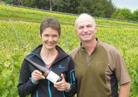 Daniel & Ursula Schwarzenbach with their gold-medal winning Nelson Pinot Gris 2013