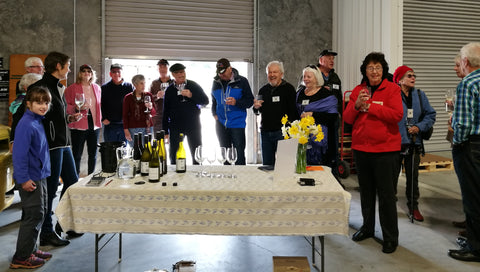 Wine tasting with Nelson MX5 car club