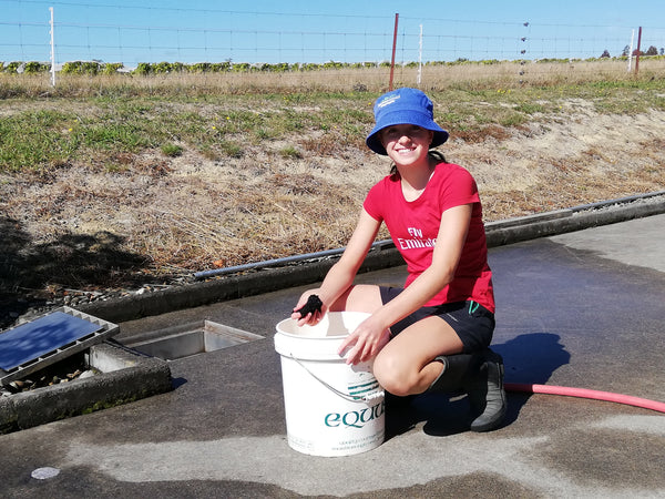 Isabelle Schwarzenbach working at the Blackenbrook family winery
