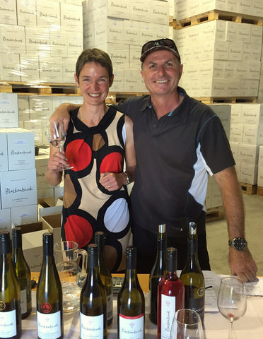 Daniel and Ursula Schwarzenbach at their family winery in Nelson, New Zealand