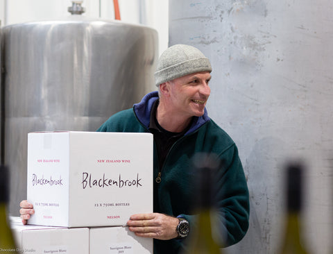 Daniel Schwarzenbach, winemaker at Blackenbrook Vineyard, Nelson, New Zealand