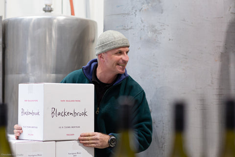 Daniel Schwarzenbach with the first Blackenbrook Pinot Blanc