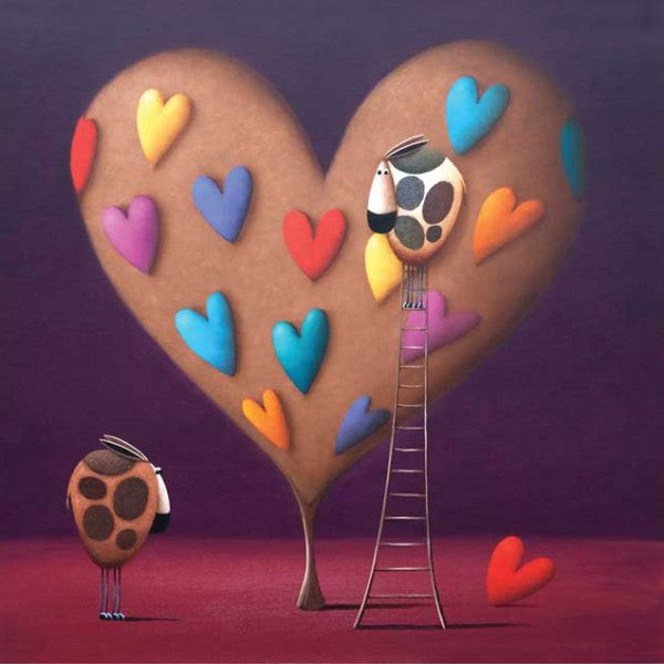 Simon Clarke Canvas - Heart for Moo