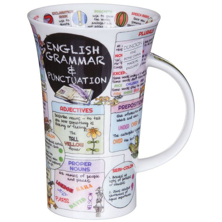 Dunoon Fine English Bone China Mug - Know Your Grammer