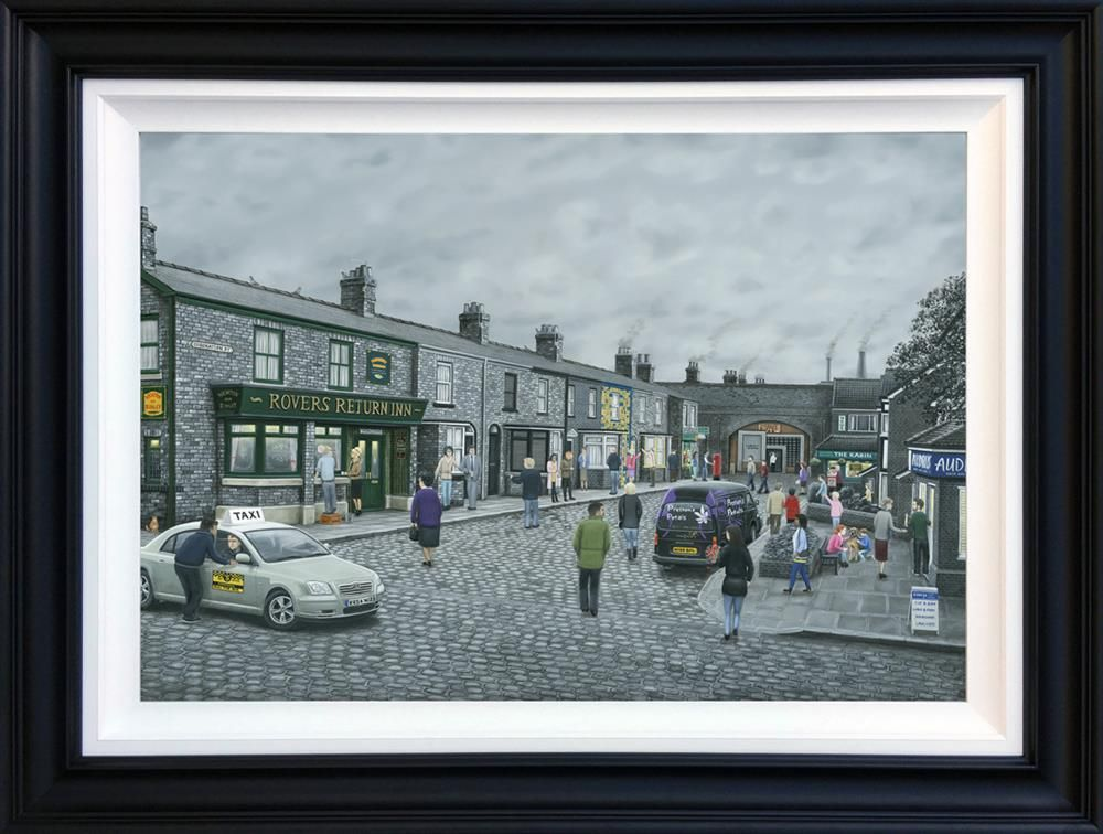 Leigh Lambert - Limited Edition Deluxe Canvas - On The Cobbles