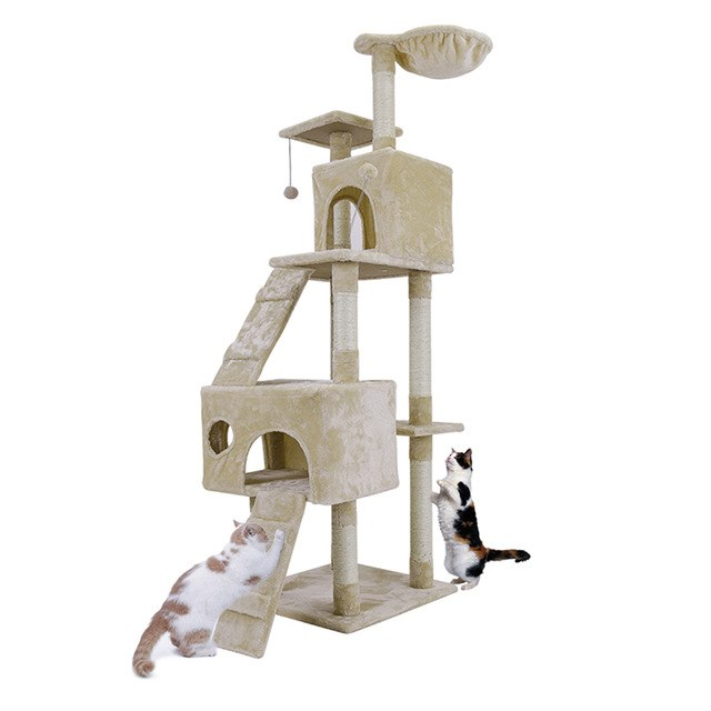 Domestic Delivery Cat Toy House Bed Hanging Balls