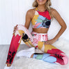 abstract 2 piece set gymwear