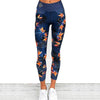 Dark Blue bird of paradise leggings