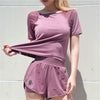 grape t-shirt and shorts set