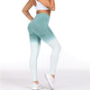 aqua white leggings