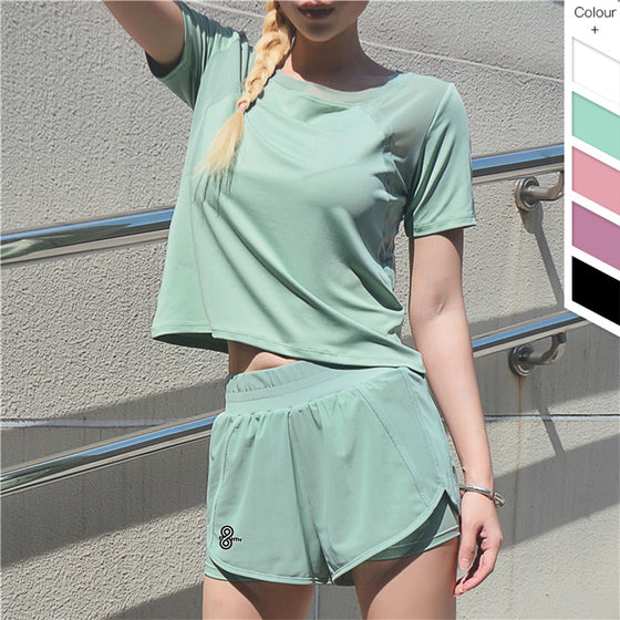 mint t-shirt and shorts set