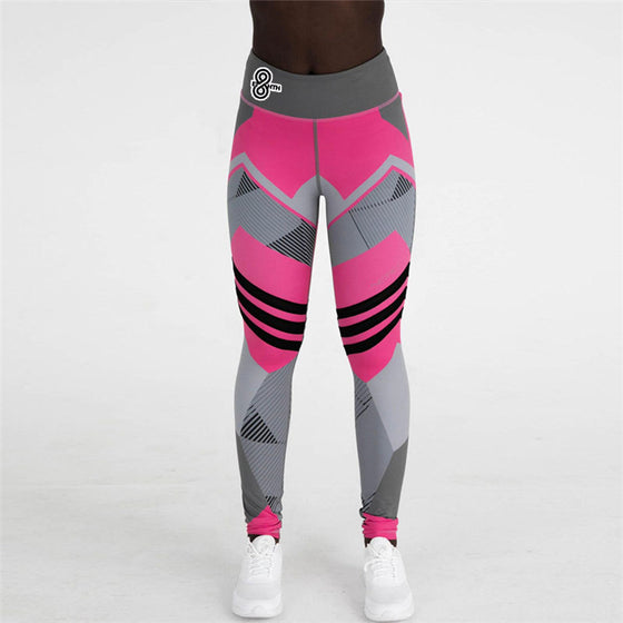Black White and Pink Leggings