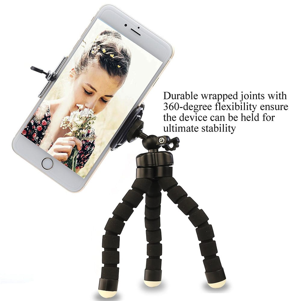 Phone General Sponge Octopus Tripod with Bluetooth Remote Control